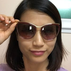 Miu miu SMU51P cateye sunglasses gradient burgundy
